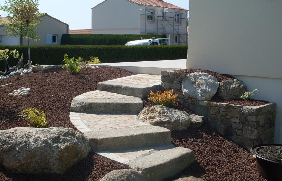 Création de jardin par COUILLEAU PAYSAGISTE à La Bruffière